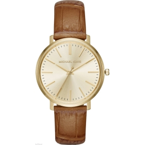 Michael Kors MK2496 Watch Strap Brown Leather