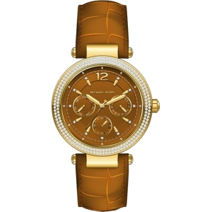 Michael Kors MK2546 Watch Strap Brown Leather
