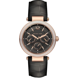 Michael Kors MK2547 Watch Strap Black Leather