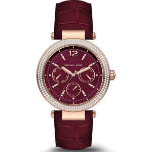 Michael Kors MK2568 Watch Strap Red Leather