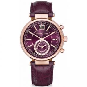 Michael Kors MK2580 Watch Strap Purple Leather