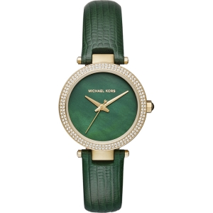 Michael Kors MK2592 Watch Strap Green Leather