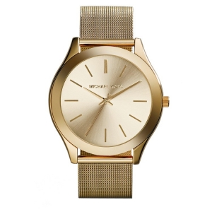 Michael Kors MK3282 Watch Strap Gold Coloured Mesh (Milanese)