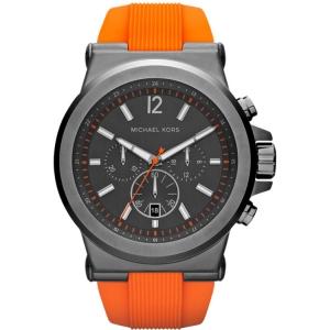 Michael Kors MK8296 Watch Strap Orange Rubber