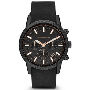Michael Kors MK8317 Watch Strap Black Rubber