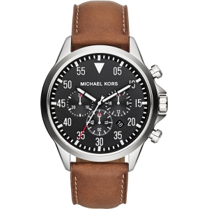 Michael Kors MK8333 Watch Strap Brown Leather