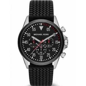 Michael Kors MK8334  Watch Strap Black Rubber