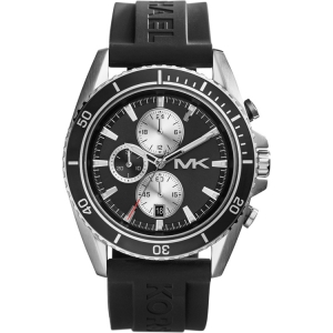Michael Kors MK8355 Watch Strap Black Rubber