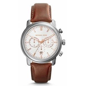 Michael Kors MK8372 Watch Strap Brown Leather
