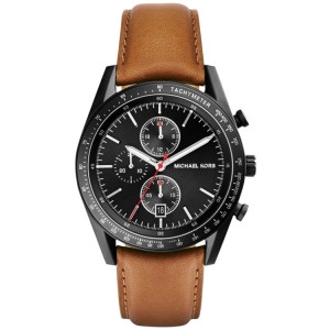Michael Kors MK8385 Watch Strap Brown Leather