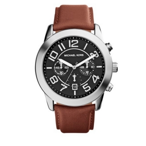 Michael Kors MK8359 Watch Strap Brown Leather