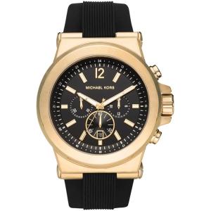 Michael Kors MK8445 Watch Strap Black Rubber