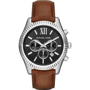 Michael Kors MK8456 Watch Strap Brown Leather