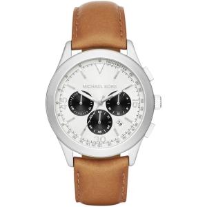Michael Kors MK8470 Watch Strap Brown Leather