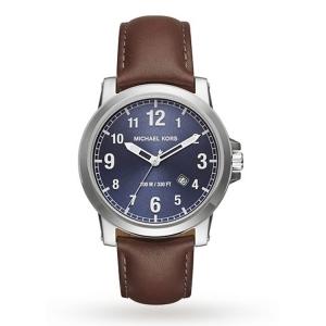 Michael Kors MK8501 Watch Strap Brown Leather