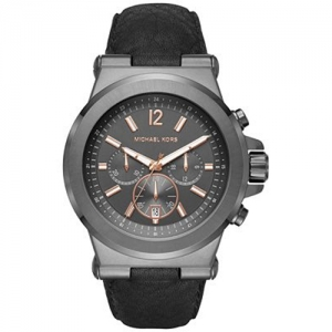 Michael Kors MK8511 Watch Strap Black Leather