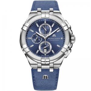 Maurice Lacroix Aikon AI1018 Watch Strap Denim