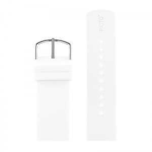 Picto Watch Strap White Rubber - 43365 - 22mm