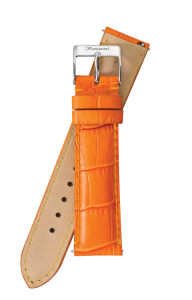 Fromanteel Alligatorgrain Watch Band Orange