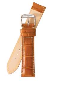 Fromanteel Alligatorgrain Watch Band Light Brown White Stitching