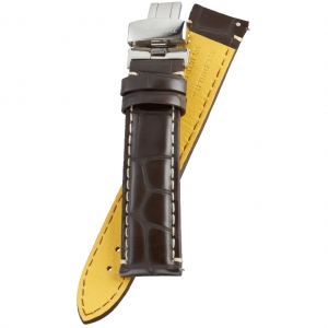 Fromanteel Pendulum Watch Strap Brown Alligatorgrain Leather + Folding Clasp L/XL