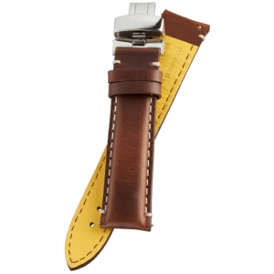Fromanteel Pendulum Watch Strap Oiled Brown Leather + Folding Clasp L/XL