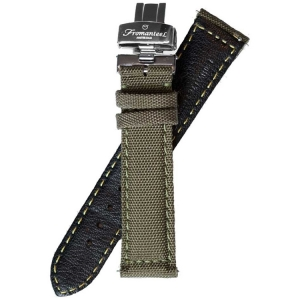 Fromanteel Nylon on Leather Watch Strap Green + Folding Clasp