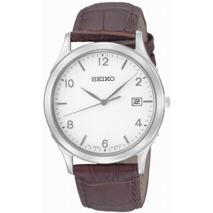 Seiko Watch Strap SGEE09P1 Brown Leather
