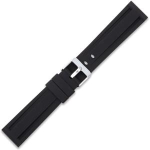 Silicone Rubber Watch Strap Panerai Style Black