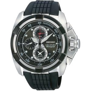 Seiko Velatura Chronograph Watch Strap SNAA93P2 Black Rubber
