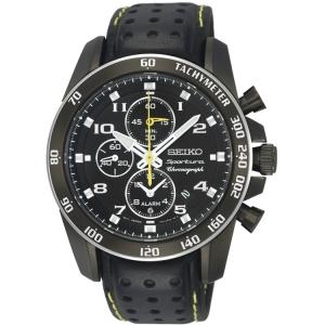 Seiko Sportura Watch Strap SNAE67P1 Black Leather