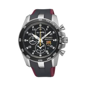 Seiko Sportura FC Barcelona Watch Strap SNAE93P1 Black, Red Rubber