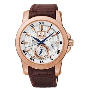 Seiko Premier Watch Strap SNP096P1 Brown Leather