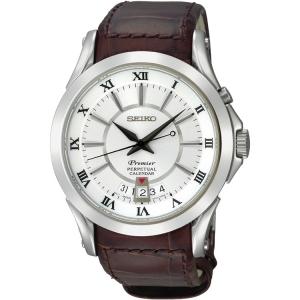 Seiko Premier Watch Strap SNQ105P1 Brown Leather
