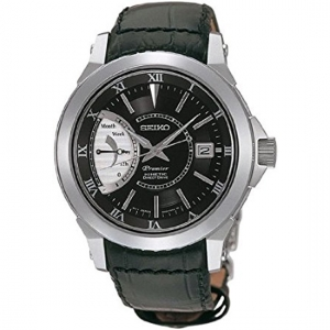 Seiko Premier Watch Strap SRG001 Black Leather