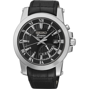 Seiko Premier Watch Strap SRN039P2 Black Leather