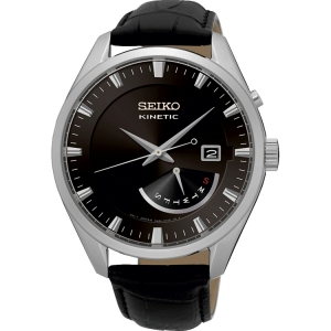 Seiko Kinetic Watch Strap SRN045P2 Black Leather