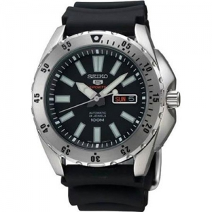 Seiko 5 Watch Strap SRP357 Black Rubber