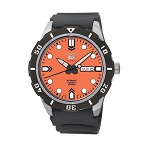 Seiko 5 Watch Strap SRP675 Black Rubber