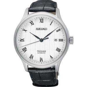 Seiko Presage Automatic Watch Strap SRPC83 Black Leather