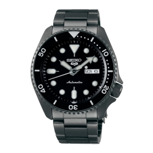 Seiko 5 Sports Watch Strap SRPD65K1 Black Stainless Steel