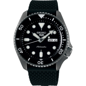 Seiko 5 Watch Strap SRPD65 Black Rubber 22mm