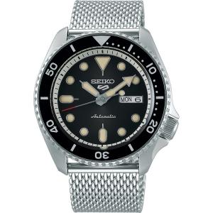 Seiko 5 Watch Strap SRPD73 Silver Mesh 22mm