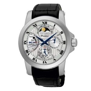Seiko Premier Watch Strap SRX011P2 Black Leather