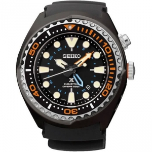 Seiko Prospex Kinetic Watch Strap SUN023 Black Rubber