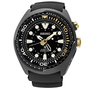 Seiko Prospex Kinetic Watch Strap SUN045 Black Rubber