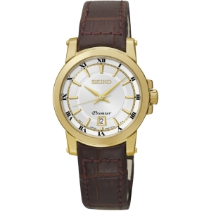 Seiko Premier Watch Strap SXDF48P1 Brown Leather