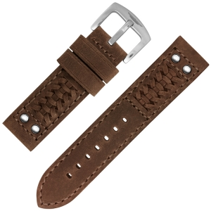 Strap Works Woven Ranger Watch Strap Medium Brown