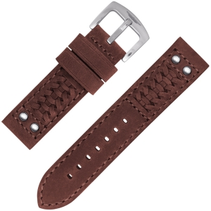 Strap Works Woven Ranger Watch Strap Tan Leather