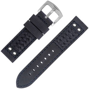 Strap Works Woven Ranger Watch Strap Dark Blue